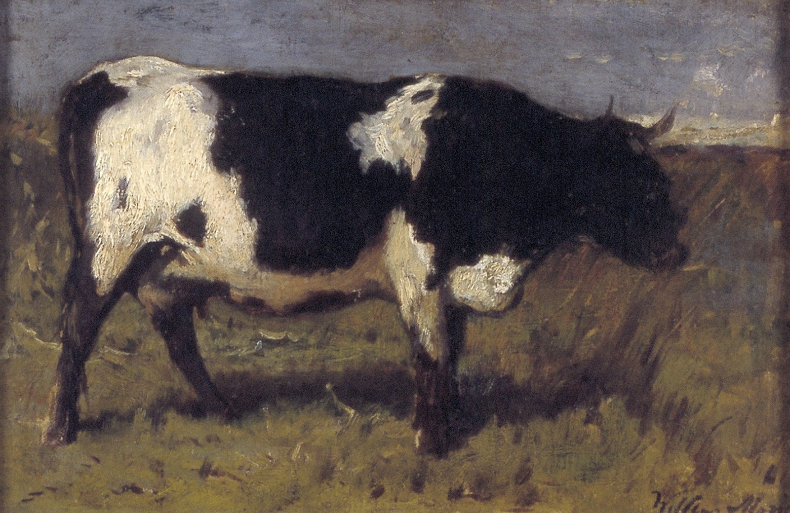 Schilderij van een koe